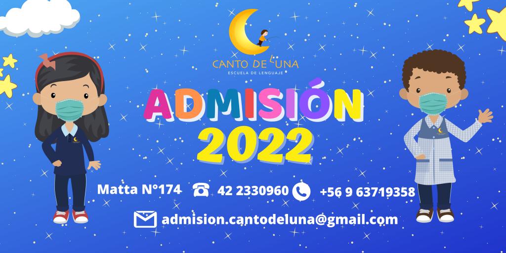 ADMISION 2022